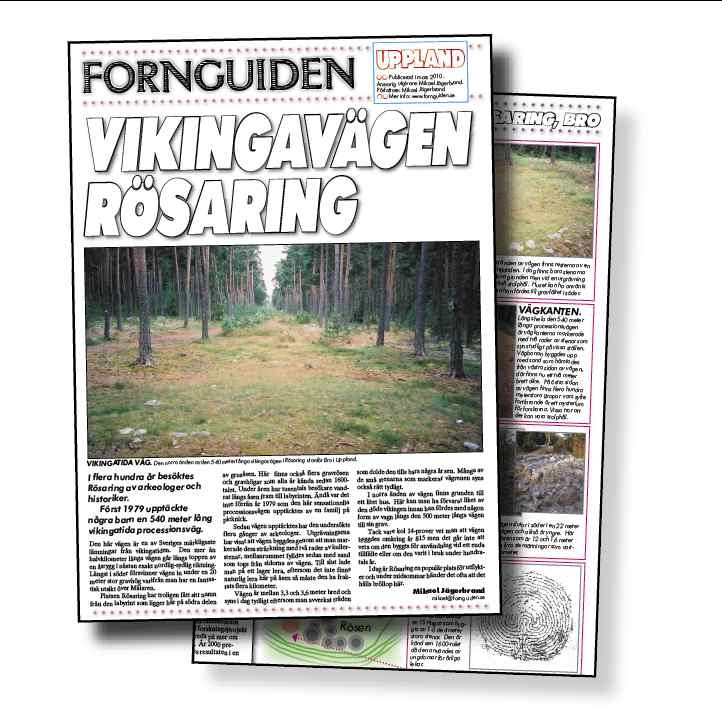 """rösaring karta Fornguiden.se » """"Vikingavägen Rösaring"""" [Sverige] rösaring karta"""